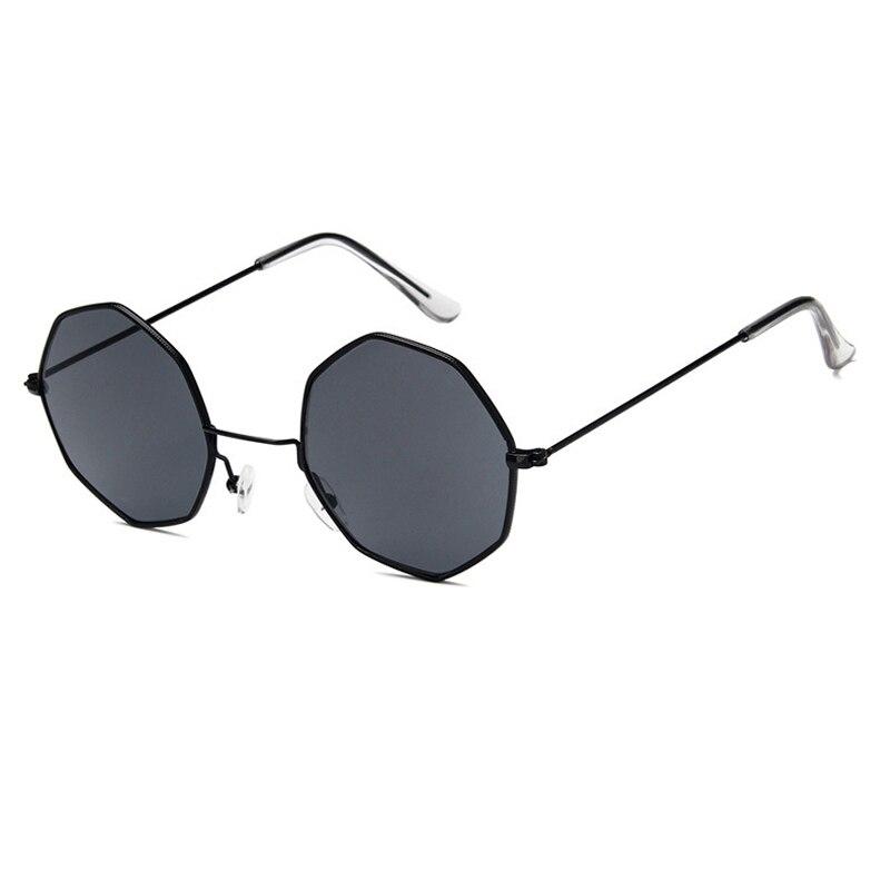 Women Oversized Vintage Classic Retro Luxury Designer Metal Octagon Sunglasses
