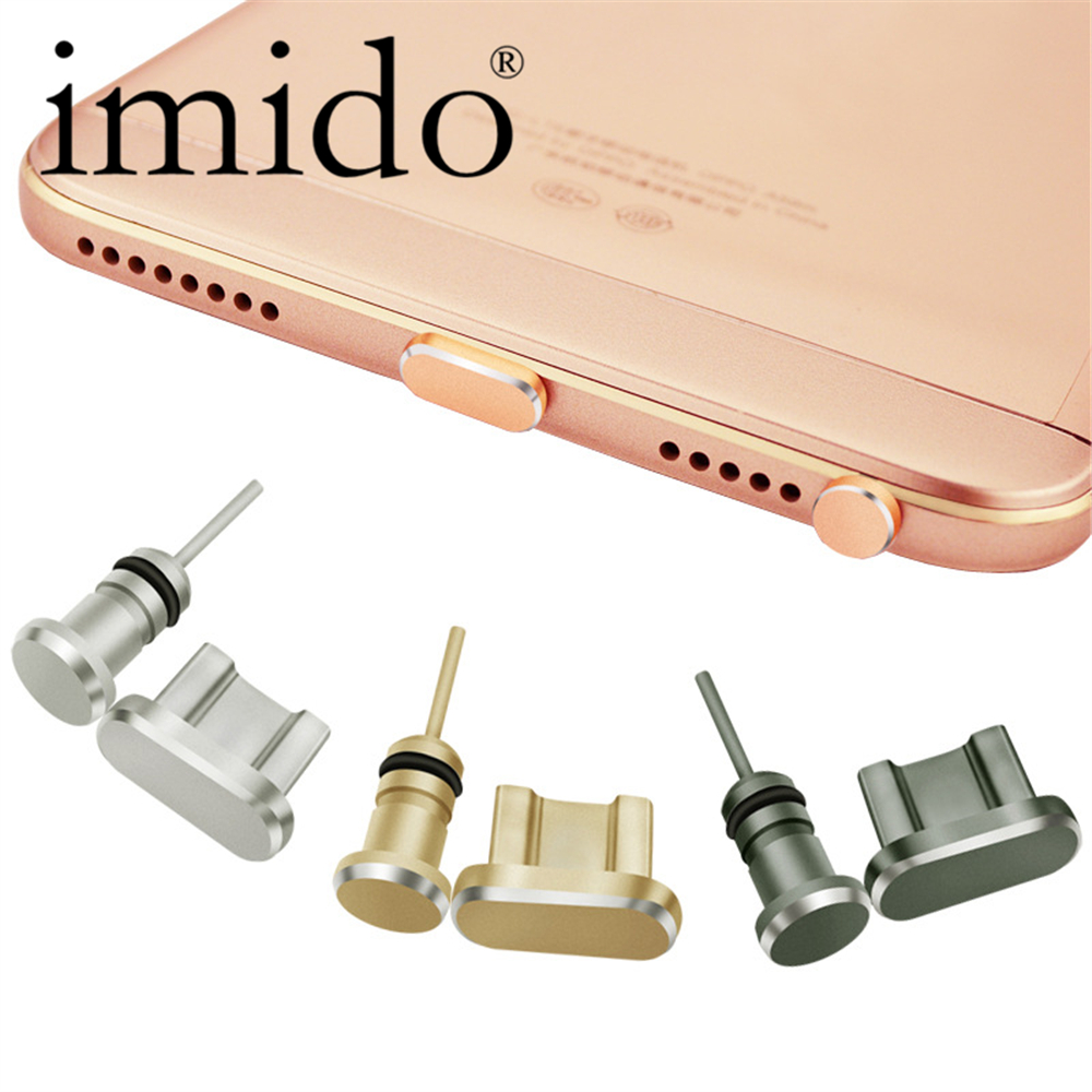 Metal Dust Plug Earphone For Xiaomi Redmi note 4 4x 4a Type USB 2 in 1 Mobile phone Micro 3.5mm Sim Card Tray Eject Pin Tool