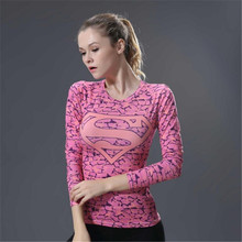 Women Pro Quick Dry Compress Fitness Sporting Top Exercise Runs Yogaing Workout sportshirts T Shirt Bodybuilding Long Sleeves