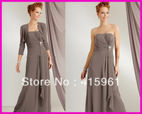 Cheap Full Length Chiffon farsali Plus Size mother of the bride dresses With Jacket for weddings 2019 vestido de madrinha