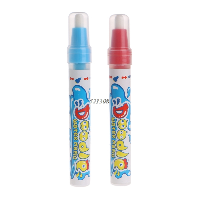 2017 Water Drawing Mat Painting Pen Magic Pen Child's Learning Drawing Toy 2Pcs MAR6_30
