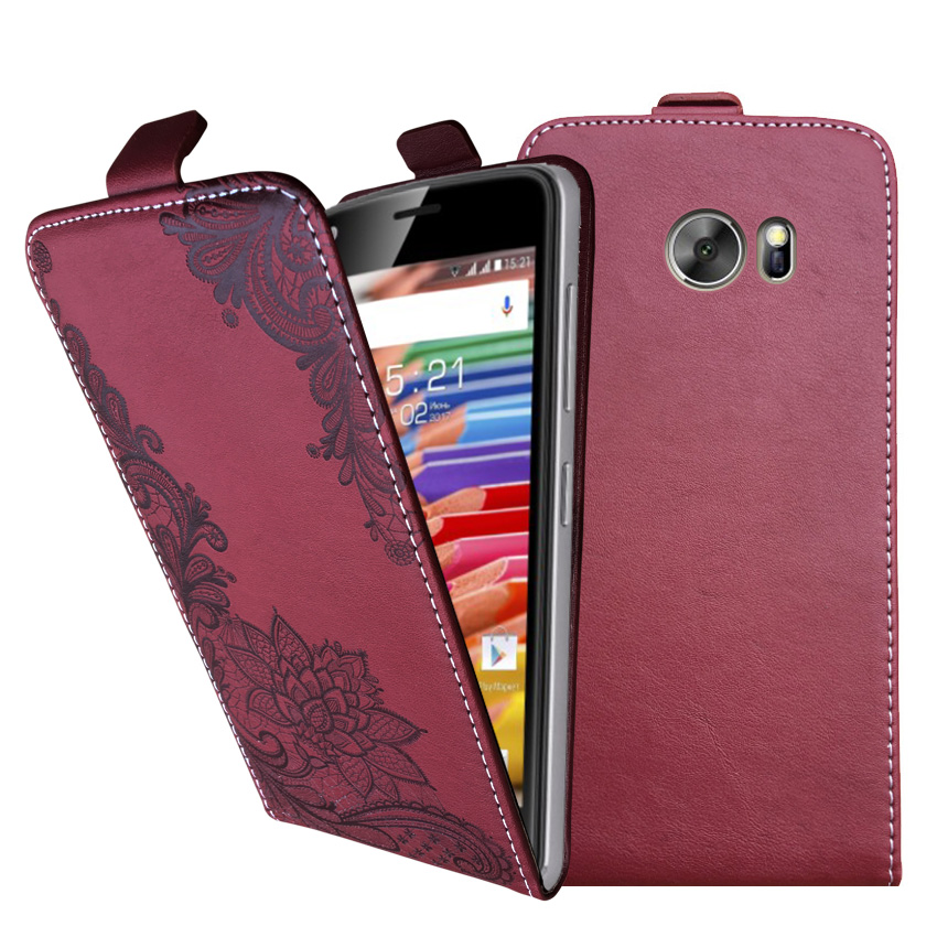 3D Stereo Embossing lace flower butterfly flip up and down leather phone bag cover case for Bluboo Edge