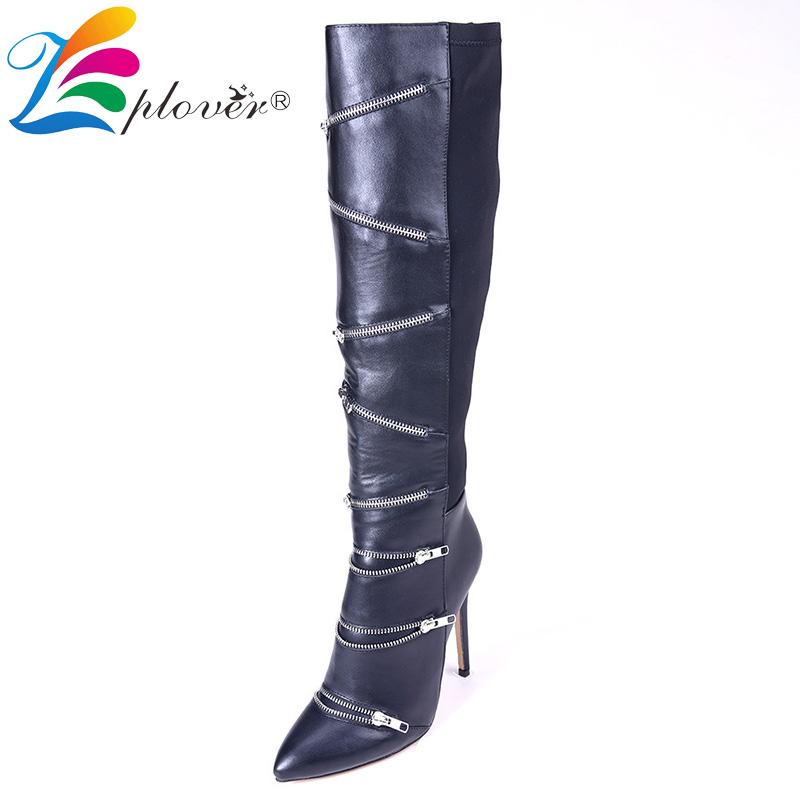 winter boots women over the knee thigh high soft leather fur boots zip fashion shoes europe botas zapatos mujer botte femme ...
