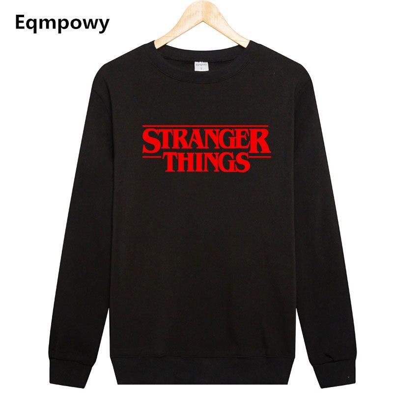 Eqmpowy Толстовки странные вещи с капюшоном Для мужчин с капюшоном Для женщин кофты негабаритных осень-зима хип-хоп Для мужчин Толстовки Толст...