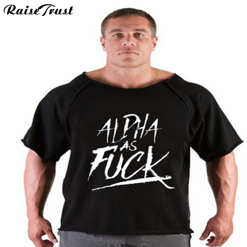 T-Shirt Bodybuilding Fitness Palestra  men's T-Shirt clothing Plus Size 100% cotton clothes Plus Size musculation gyms