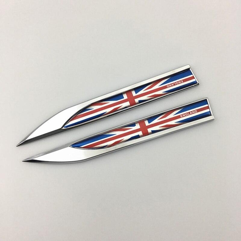 Styling England Flag Side Fender Emblem Union Jack Side Badge for MINI Countryman R52 R55 R56 R60 F55 F56 for Golf Fiesta Clio