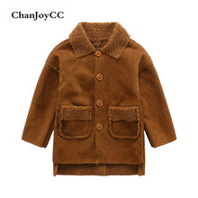 ChanJoyCC Winter Hot Sale Children's Coat Baby Boys Long Sleeve Fashion Thickening Warm Long Fleece Jacket Outerwear For Kids