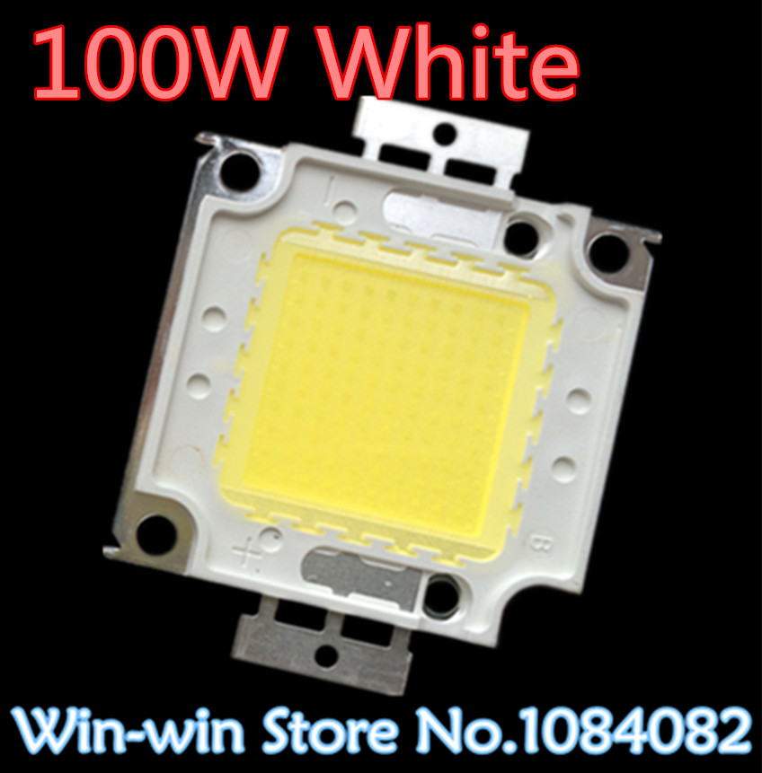 20PCS 100W LED 100W white LED Integrated High Power Lamp Beads tetragonum White 3000mA 32 34V