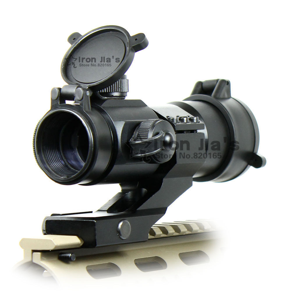 ФОТО Tactical 4 MOA Red Green Dot laser Airsoft Illuminated M3 RifleScope Reflex Stinger Dot Sight PEPR 20mm Hunting Chasse Caza