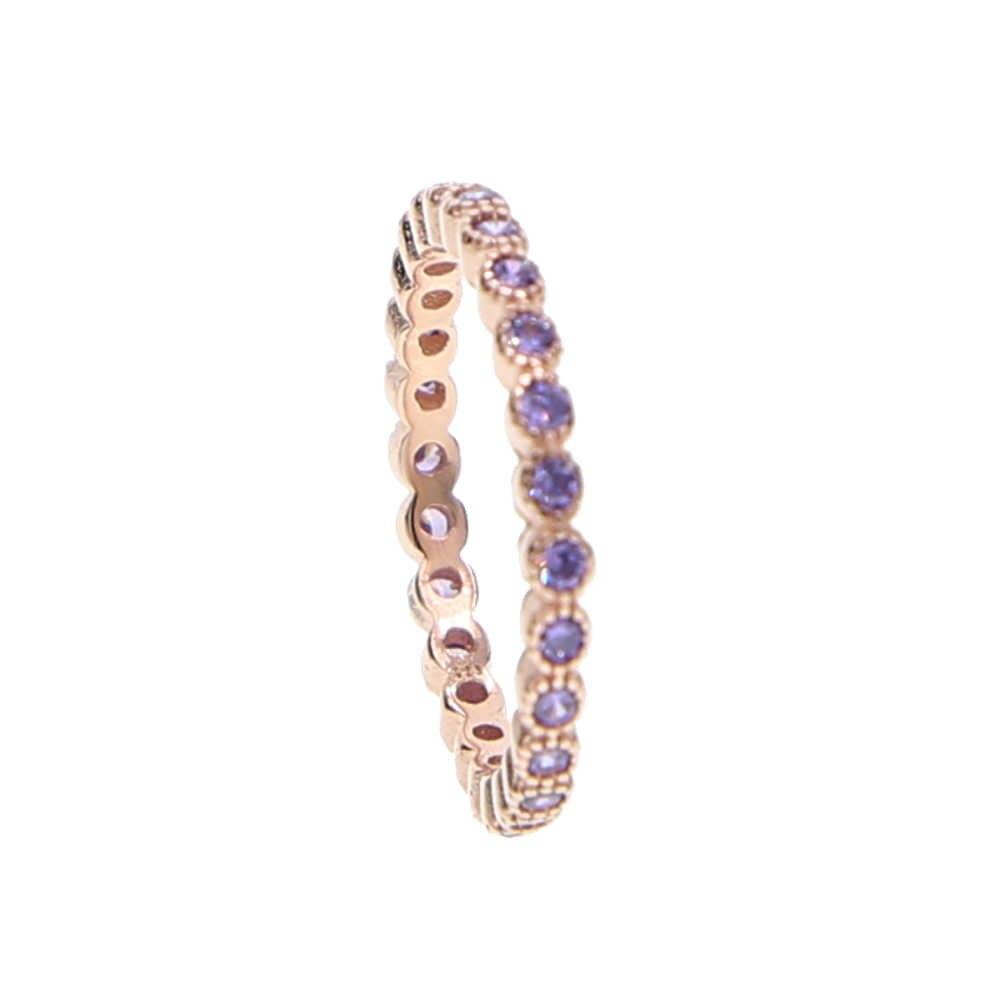 100% Стерлинговое Серебро 925 пробы 7 цветов стек Штабелируемый модный дизайн для девушек и женщин ювелирный камень розовое золото серебро смешанный цвет cz кольцо