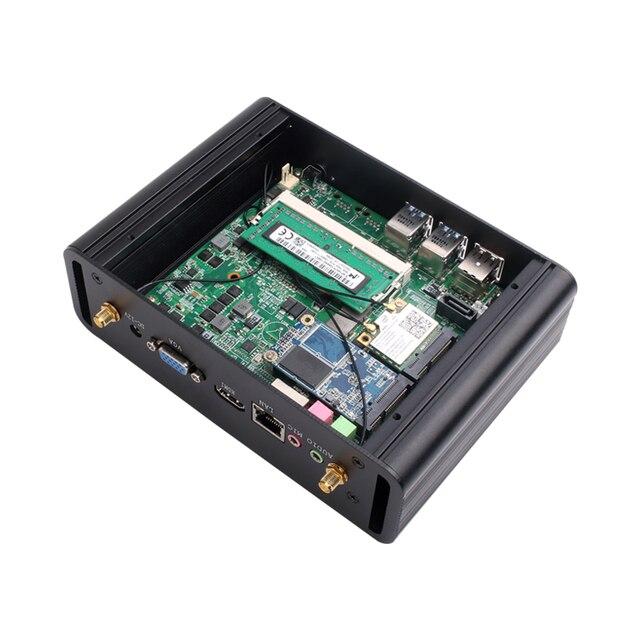 XCY мини-ПК Intel Core i3 4010U 5005U i5 4200U 5200U i7 5500U офисный компьютер HTPC Windows 10 Linux HDMI WiFi Gigabit Ethernet 3
