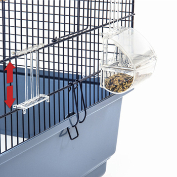 Bird Parrot Feeder Pets Acrylic Feeding Bowl Cage Hanging Food Water Holder