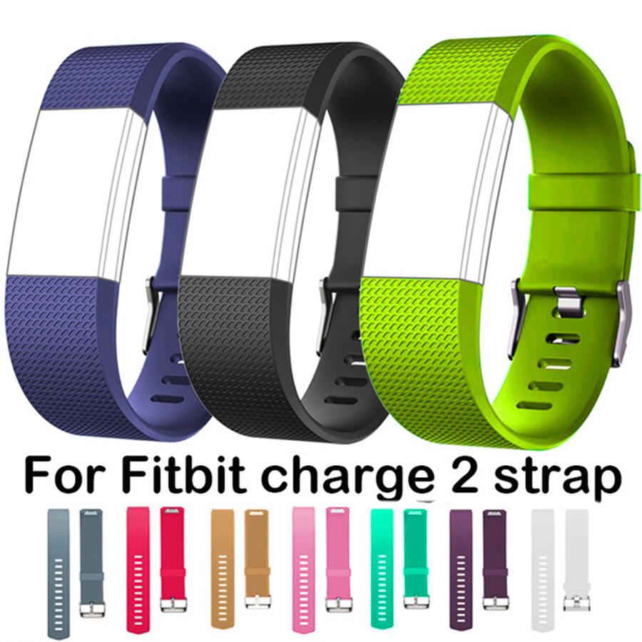 Silicone Wristband Wrist Strap Smart Watch Band Strap Soft Watchband Replacement Smartwatch Band For Fitbit Charge 2 купить в Москве 2019