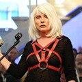 Cinturones de diseño Hecho A Mano Las Mujeres Punky Gótico de Cuero Arnés de Cuerpo Jaula Bondage Bustier Corsé Esculpir El Pecho Cintura Cinturón