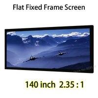 140-inch de gran Pantalla de Cine 3272x1392mm Pantalla de Proyección del Marco Fijo Visible Mejor Para DLP LED Proyector 3D