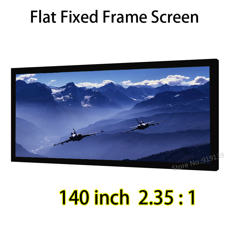 Big Cinema Screen 140-inch 3272x1392mm Viewable Fixed Frame Projection Screen Best For DLP LED 3D Projector low price 92 inch flat fixed projector screen diy 4 black velevt frames 16 9 format projection for cinema theater office room