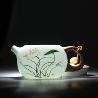 Archaize Hand painted Exquisite Xishi Pot Teapot Tureen Fair Cup of Tea Kettle Black Tea Ware High Quality