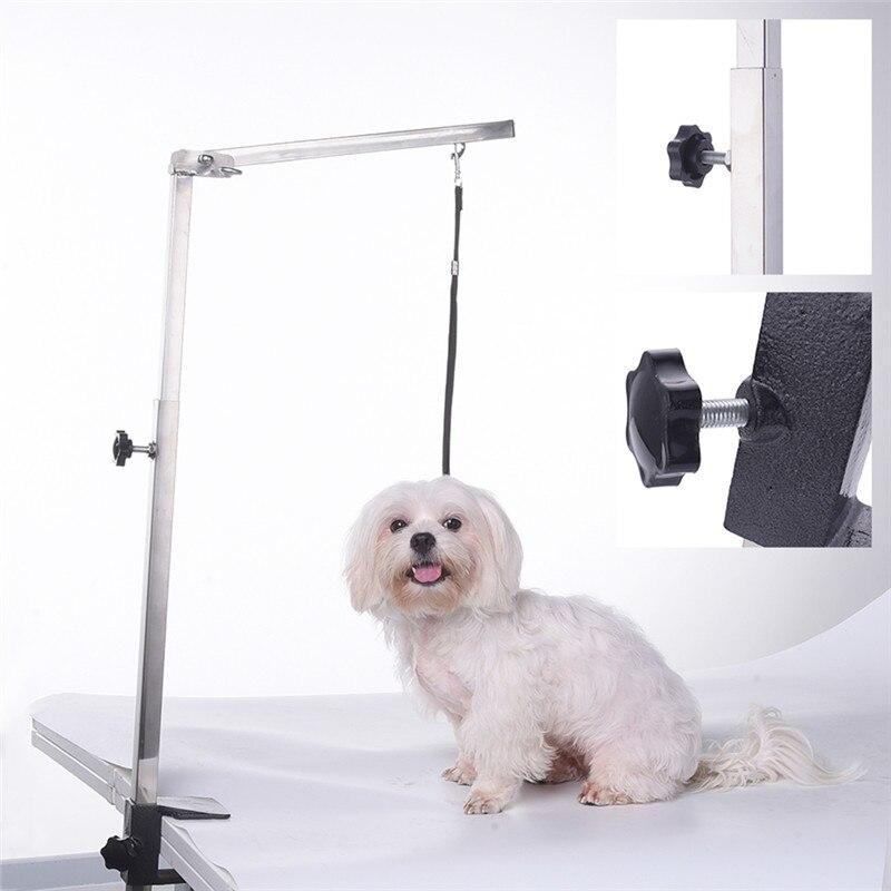 Складная ручка для ухода за питомцем, котом, собакой, 62 см, домашние животные из нержавеющей стали уход за щенком, подвеска для стола, без слинга - 4