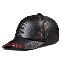 Svadilfari New 2018 High Quality Genuine Leather Adjustable Solid Color Baseball Caps Unisex Couple Fashion Leisure Casual Hats