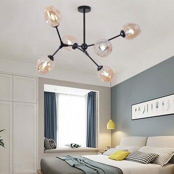 LED Kronleuchter für Schlafzimmer LED Kronleuchter für Wohnzimmer Metall Kronleuchter Beleuchtung Fixture Moderne Hängen Lampen Home Design