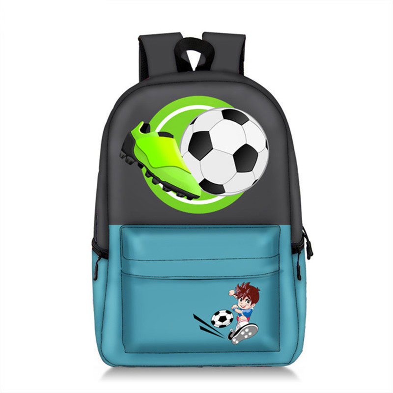 Practical Forudesigns School Bags For Teenagers Girls Schoolbag Large Capacity Foot Ball Printing School Children Backpack Set Pencil Bag Lights & Lighting