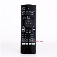 MX3 Air Mouse Backlight Wireless Keyboard 2.4G Remote Control IR Learning Fly For android tv box