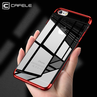 CAFELE plating soft TPU case for iPhone 6 6s plus cases transparent ultra thin shining case for iPhone 6s Mixed silicon cover