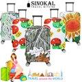 Tampas de bagagem Mala de Viagem Flexível Cobre Spandex Elástico Protetor para 18 20 22 24 26 26 28 30 32 polegada Do Trole Caso