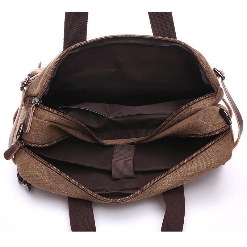 Sac à dos d'affaires pour hommes vintage en cuir toile sac à dos sac d'école sacs de voyage pour hommes sac à dos de voyage pour ordinateur portable grande capacité - 6