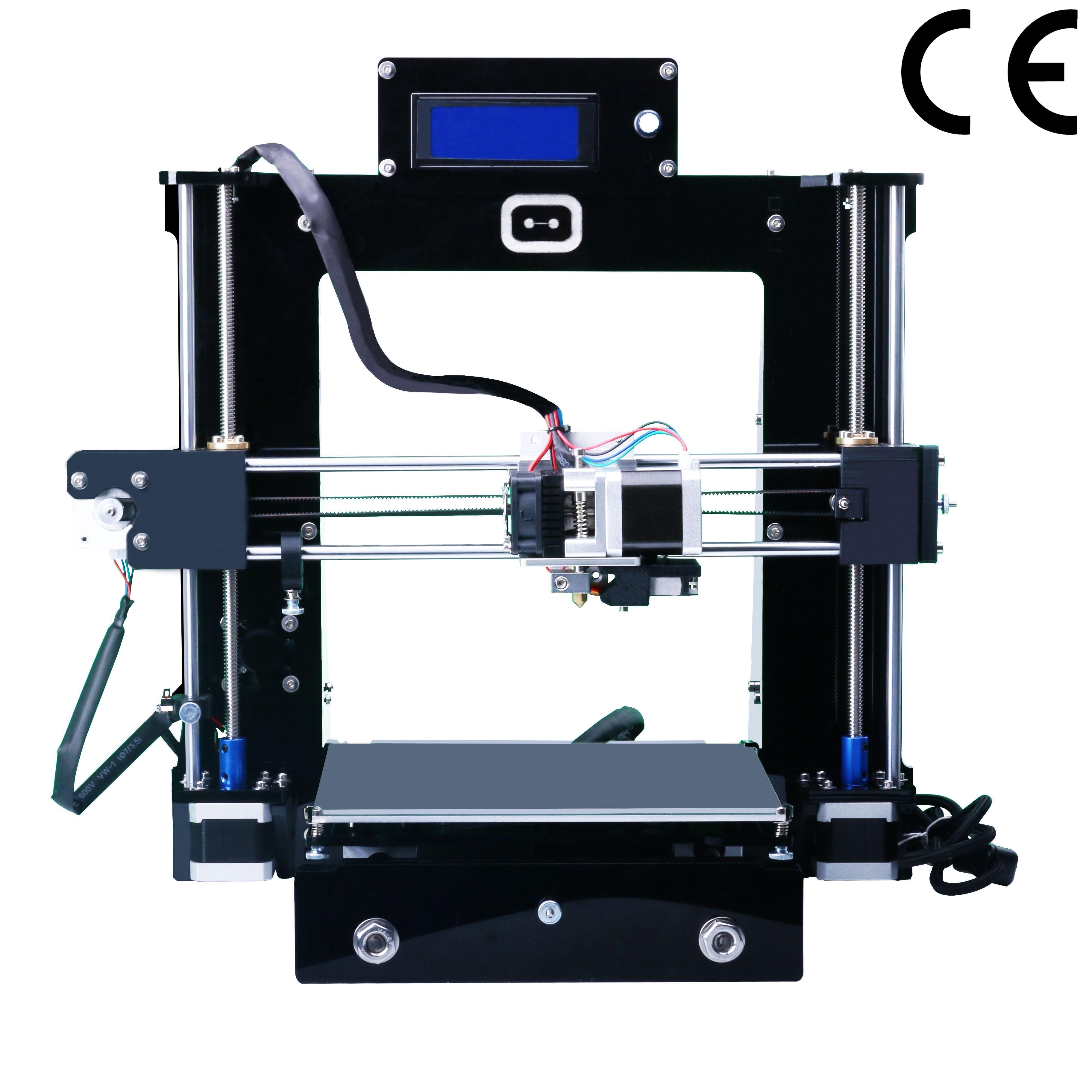 European Conformity High quality Precision Reprap Prusa i3 KS-i3  DIY Full Acrylic 3D Printer Kits LCD  214 x200x190mm