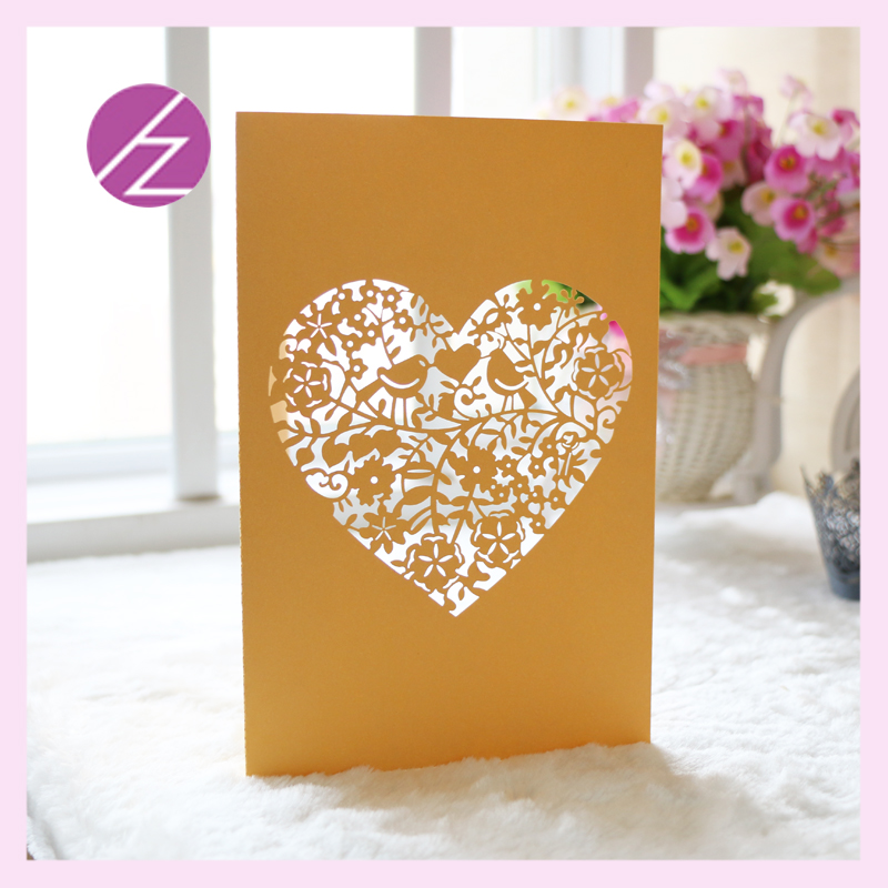 Free Shipping Embossed flowers love heart Design Rustic Gold custom ...