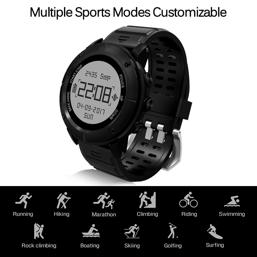 Outdoor SmartWatch OLED Stainless Steel Bluetooth V4.0 GPS