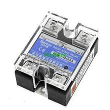 AC para AC Transparente Capa Monofásico Relé de Estado Sólido 10A 24-480 V 80-250 V