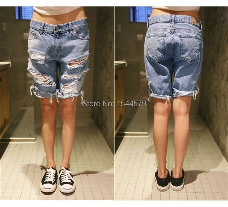Aliexpress.com : Buy fashion ripped jeans shorts sports hotpants ...