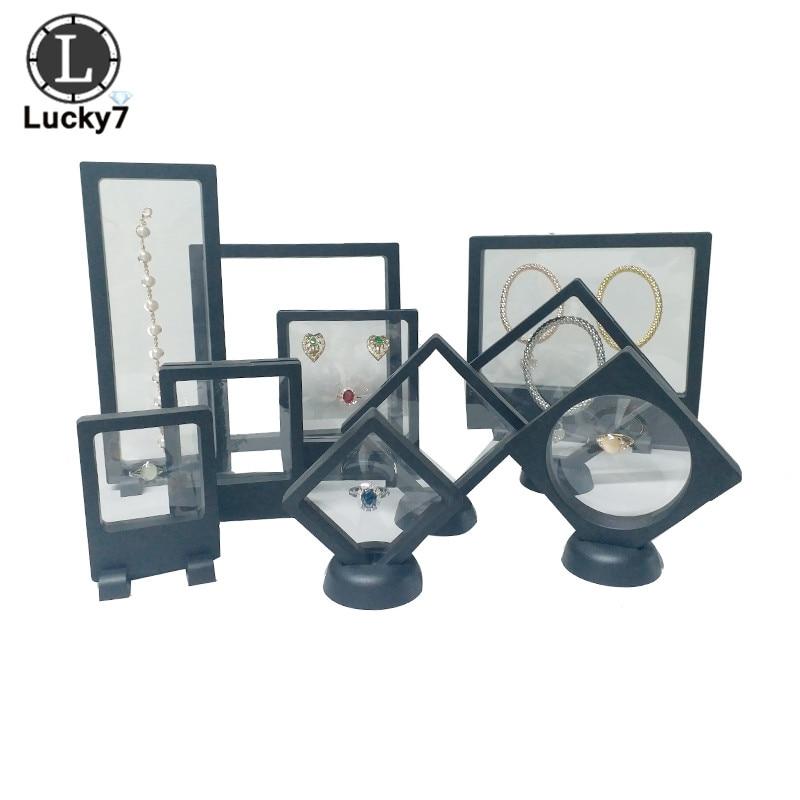 1 Piece Transparent PE Film Display Box Suspension Box Jewelry Ring Bracelet Box Small Commodity Gift Box Jewelry Storage Rack