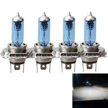 4 шт. H4 P43T 12 В автомобиля Детская безопасность галогенные лампы фар синий покрытием стайлинга автомобилей csl2017