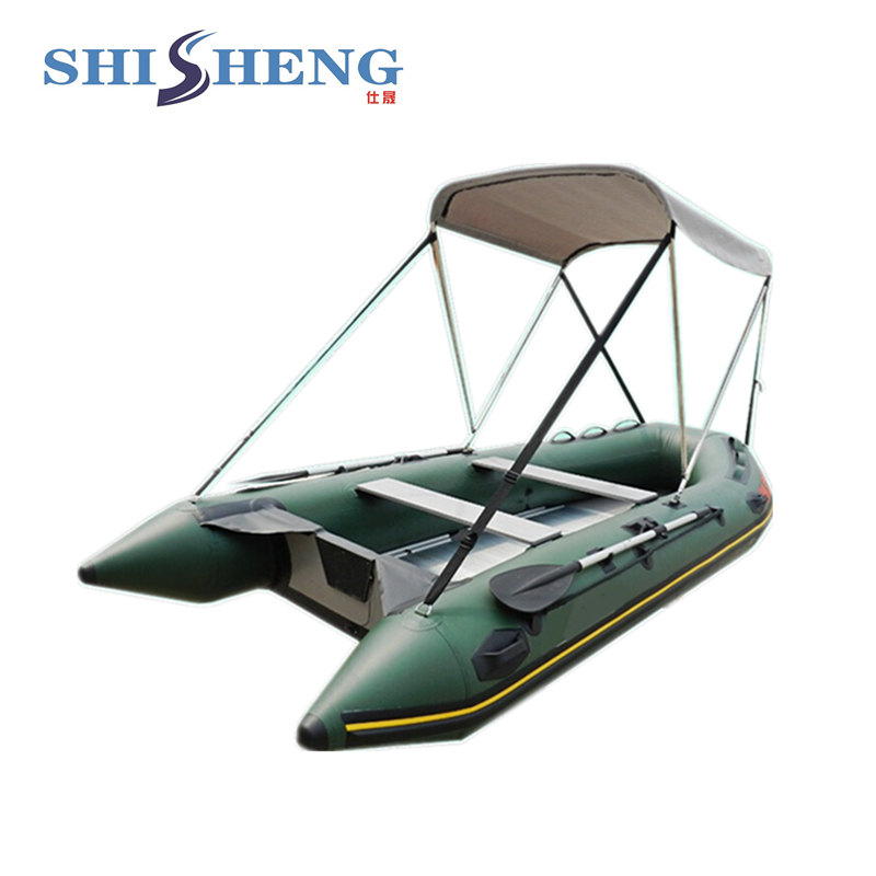 2018 CE Certificate China Factory OEM 6 Persons Inflatable Boat With Sunshade ce certificate cheap inflatable boats with canopy for sale marine boat yacht