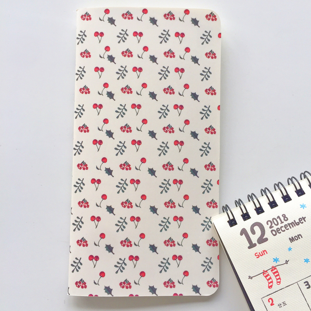 24 Sheets Cactus, Flamingo, Cherry Lined Diary Notebook
