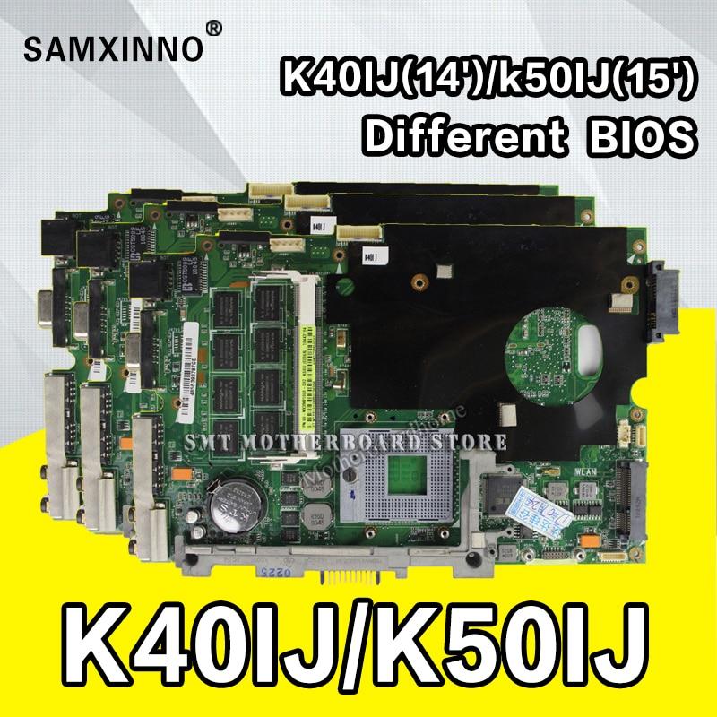 цена на K40IJ Laptop motherboard for ASUS K40IJ K50IJ K60IJ X5DIJ K40AB K50AB K40 K50 Test original mainboard test 100% ok