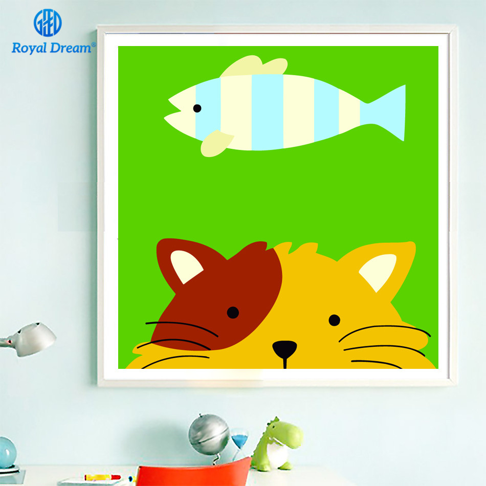 Cute Cats Paintings For Baby Kids Room Coloring By Numbers for ...