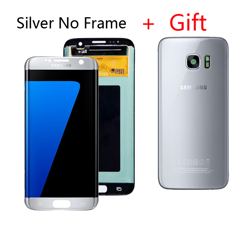 Original AMOLED 5.5 '' LCD For Samsung S7 Edge LCD G935F G9350 S7 Edge LCD Display Touch Screen With Gift S7 Back Cover
