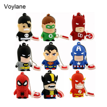 Best Gift superhero avenger Superman Batman Spider Man pendrive Usb 2 0 Usb flash drive 8GB
