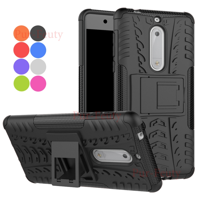 case for <font><b>Nokia</b></font> 5 Global Dual TA-<font><b>1053</b></font> TA-1008 Cover Phone Holder Hybrid Armor Kickstand Shockproof Cases for Nokia5 TA <font><b>1053</b></font> 1008 image