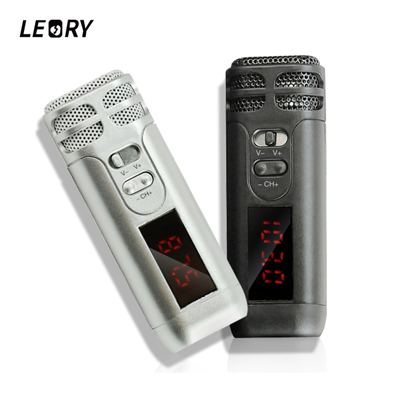 LEORY Mini Reverb Handheld FM Wireless Microphone For Tour Guide Loudspeaker Megaphone Conference Teaching Microphones Mic high end uhf 8x50 channel goose neck desk wireless conference microphones system for meeting room
