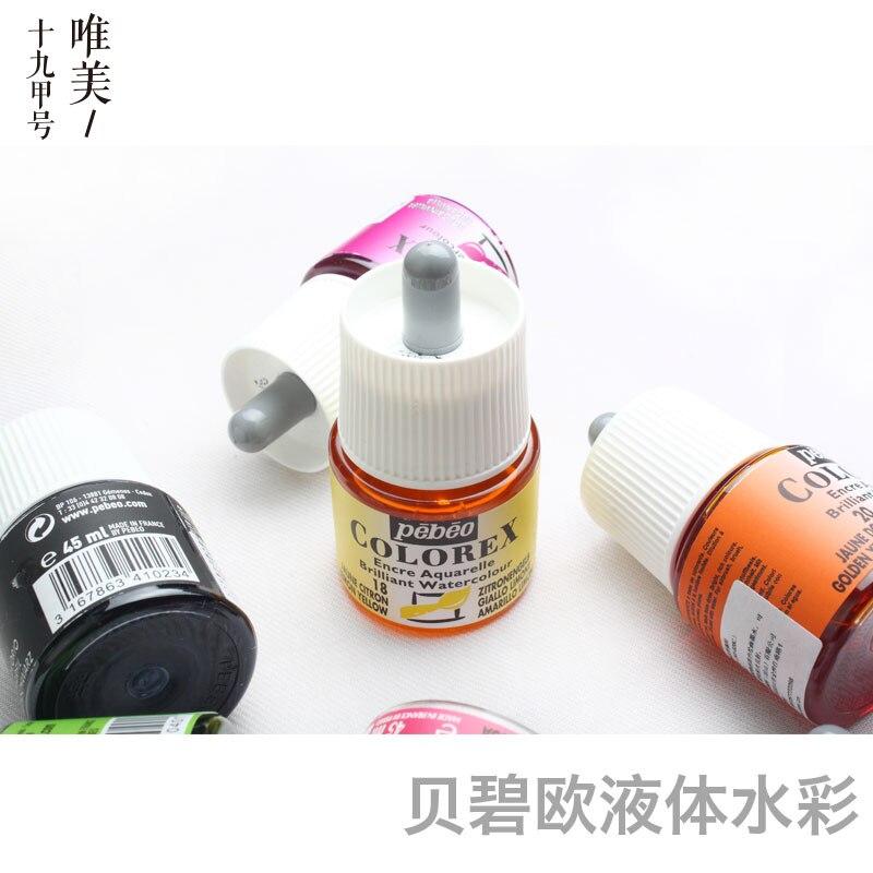 France Import Liquid Water Color 60 Colors Can Choose Transparent Watercolor Ink, 45ml Bottled Water-based Pigment Aquarela