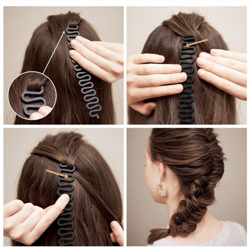 1PC Resin Hair Braiding Tool Roller With Hook Magic Hair Twist Styling Bun Maker Black 3JU7