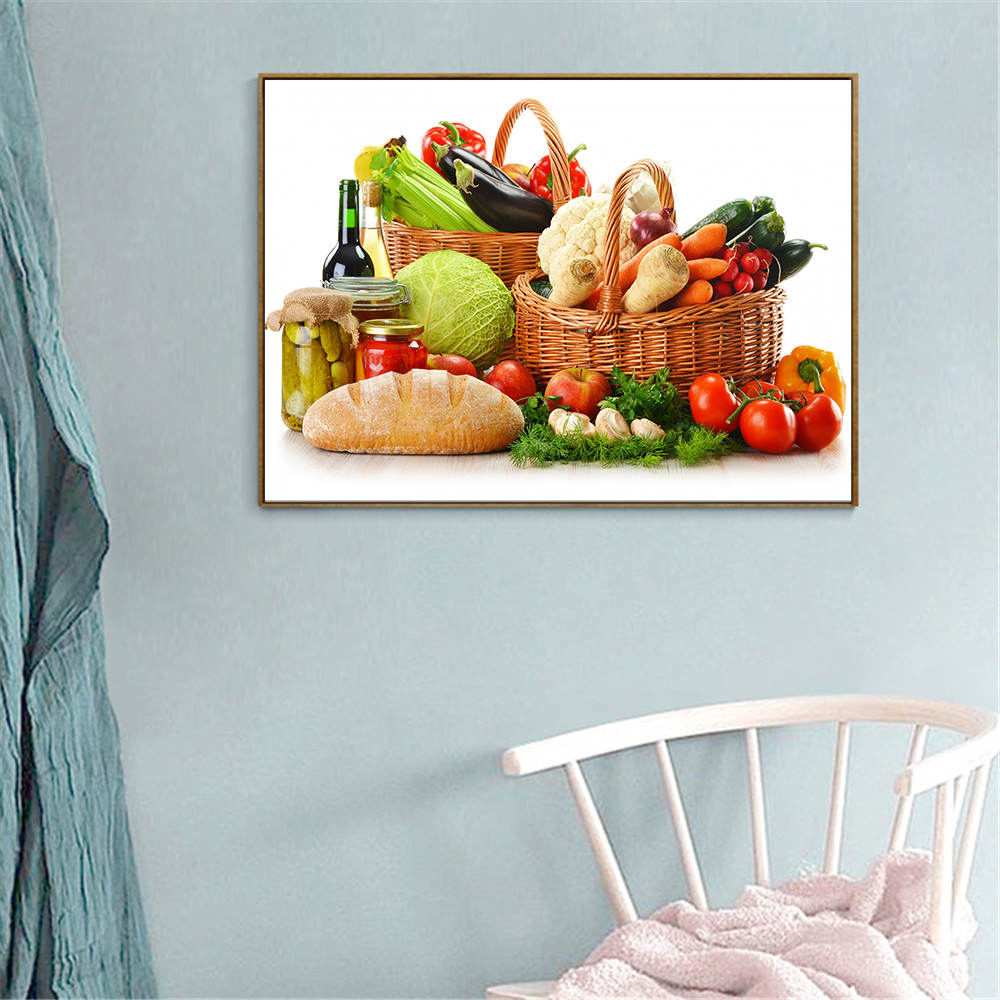 Us 2 69 10 Off Kitchen Decor Food Painting Fruit Vegetable Basket Strawberry Silk Posters Hanging Wall Art Silk Cuadros Decoracion Dormitorio In
