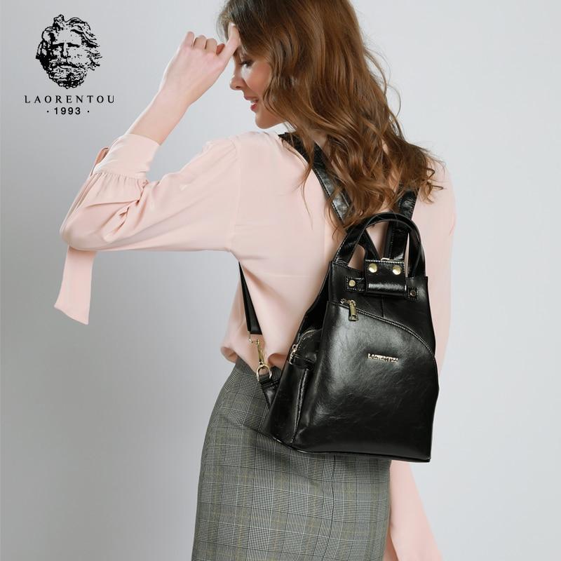 Mochilas de marca LAORENTOU para mujeres de estilo escolar mochilas de alta calidad para chicas adolescentes-in Mochilas from Maletas y bolsas    1