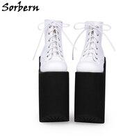 Sorbern 20Cm Lace Up Pumps Size 11 Shoes Women Spring Designer Brand Platform Fashion High Heels Ladies Pumps Custom Color