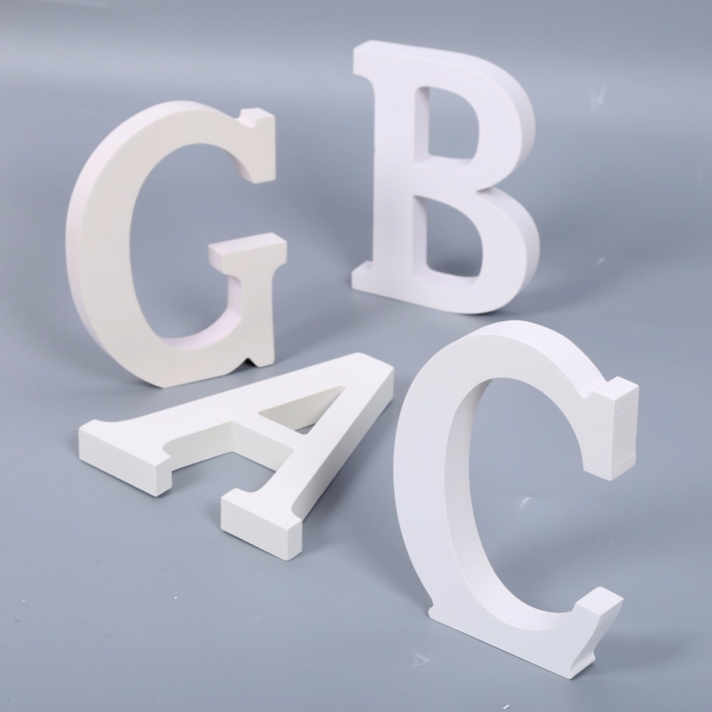 New modern home decor letters alphabet a to z wooden wall for Decoration 5 letters
